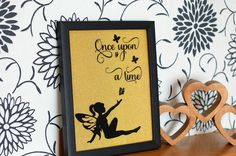 Fairy Picture, Once upon a time fairy frame, Vinyl frame, wall decor, child's bedroom wall art by KraziCrochet on Etsy