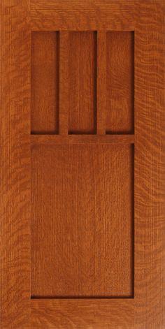 """Stonefield"" Quarter Sawn Red Oak Craftsman Style Kitchen Cabinet Door by WalzCraft"