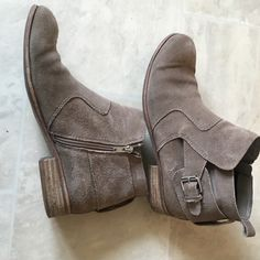 Suede booties Suede material. Worn but still have plenty of life in it DV by Dolce Vita Shoes Ankle Boots & Booties