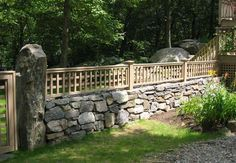 Stone Barrier Fence