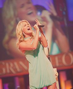 Carrie Underwood. No one has a better voice than her
