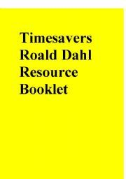 Timesavers Roald Dahl Resource Booklet - ESL worksheet by Revolting Rhymes, Rhyming Activities, Reading Worksheets, Roald Dahl, Teaching English, Esl, Booklet, Projects, Ideas