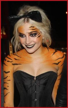Pixie Lott Tiger Makeup Boujis Without Make Up