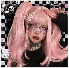 Edgy Makeup, Dark Makeup, Crazy Makeup, Makeup Looks, Aesthetic Makeup, Aesthetic Girl, Looks Instagram, Kawaii Makeup, Alternative Makeup