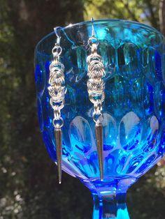 Byzantine Chainmaille Earrings by WishboneRepublic on Etsy