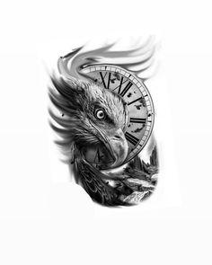 Cool Chest Tattoos, Leg Tattoo Men, Best Sleeve Tattoos, Arm Tattoos For Guys, Forarm Tattoos, Eagle Tattoos, Family Tattoo Designs, Family Tattoos, Animal Sleeve Tattoo
