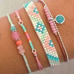 # design # bracelet # miyuki # details – - Old Tutorial and Ideas Bead Loom Patterns, Bracelet Patterns, Beading Patterns, Beading Ideas, Bracelets Design, Bead Loom Bracelets, Diy Perler Bead Bracelet, Diy Bracelet, Perler Beads