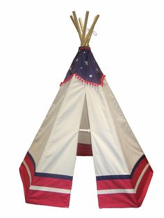 Paintable American Teepee! Great for playtime in a wild west themed room or playroom!