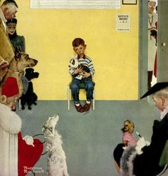 Norman Rockwell Best Paintings Ever | Norman Rockwell's Boy in Veterinarian's Office
