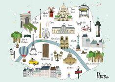 ¿Cómo sería vivir en el cielo parisino? Click en la ilustración. Ilustración: Amelie Biggs