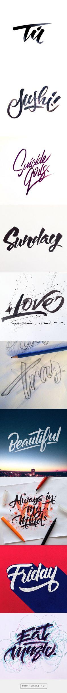 Brushpen Lettering Set 1 on Behance - created via http://pinthemall.net