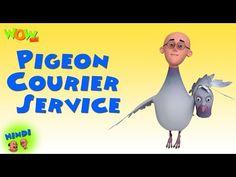 Pigeon Courier Service - Motu Patlu in Hindi - 3D Animation Cartoon for Kids - As on Nickelodeon - Video Tubez