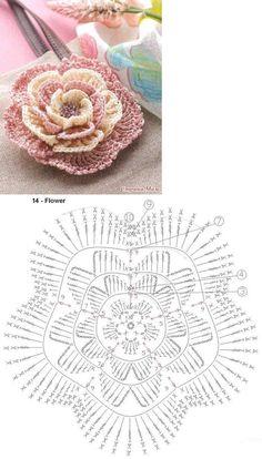Best 12 15 diy crochet flower patterns 1001 crochet by – Artofit – SkillOfKing. Appliques Au Crochet, Crochet Leaf Patterns, Crochet Diagram, Crochet Chart, Thread Crochet, Crochet Motif, Irish Crochet, Lace Applique, Diy Crochet Flowers