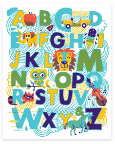 New alphabet Print by Tad Carpenter.