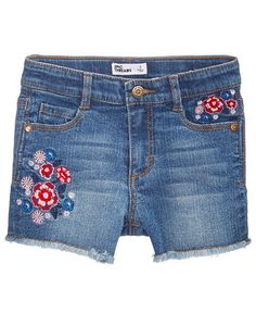 8f624b10c4c Epic Threads Toddler Girls Embroidered Denim Shorts, Created for Macy's &  Reviews - Shorts - Kids - Macy's