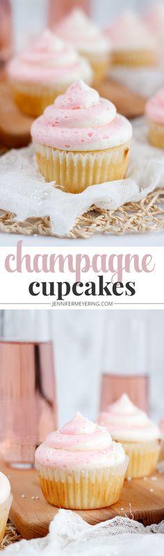 Champagne Cupcakes - http://JenniferMeyering.com