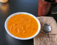 Butternut Squash and Roasted Red Pepper Soup