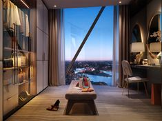 Meyer Davis — One Barangaroo Apartments For Sale, Luxury Apartments, Luxury Homes, H Design, House Design, Apartamento New York, Exterior Design, Interior And Exterior, Crown Resorts