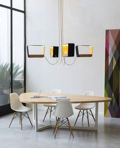 Suspension luminaire géométrique, lampe