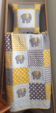 Making Patchwork Quilts Beginners Very Easy Patchwork Quilt Patterns Sewing A Patchwork Quilt By Hand Elephant Baby Quilt In Yellow GrayMaking Baby Quilts With Minky Elephant Baby Quilt In Yellow Gray More Simple Modern Baby Quilt Pattern Free Simple Quilt Baby, Cot Quilt, Baby Quilt Patterns, Baby Girl Bedding, Baby Patchwork Quilt, Elephant Quilts Pattern, Quilted Baby Blanket, Quilt Pillow, Elephant Applique