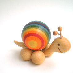 Wooden snail Finkbeiner Germany