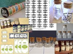 Downloadable labels, MS word, decals, apothecary jars, milk gas bottles and mason jars make for a fun DIY project... Have fun with the spice jars !