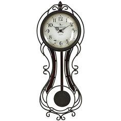 Bronze Fleur Pendulum Wall Clock | Kirklands
