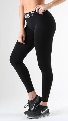 Fit Leggings in Black are form hugging and figure flattering workout leggings.