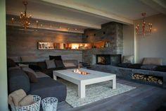 Peis i kjelleren (fra tid for hjem på Outdoor Furniture Sets, Outdoor Decor, Modern Spaces, Retro, Room Inspiration, Dyi, Dining Table, Living Room, Home Decor
