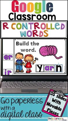Google Classroom Reading in first grade Digital literacy word work center. Phonics and word recognition is a critical skill in building strong reading foundational skills with beginning readers. Students need to increase fluency in identifying and decoding R-Controlled words. Building phonics skills increases reading fluency and builds confident readers. This resource includes 32 R-controlled word wall cards Literacy Skills, Kindergarten Literacy, Literacy Centers, Literacy Stations, Literacy Activities, Reading Fluency, Reading Intervention, Guided Reading, Teaching Reading