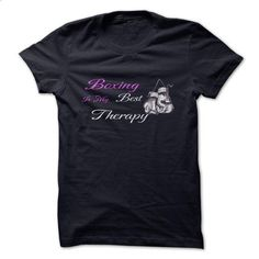Boxing Is My Best Therapy - t shirt maker #tshirt designs #design tshirt