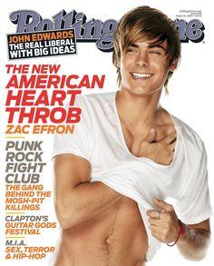 Zac Efron na capa da revista Rolling Stone (Agosto de 2007)