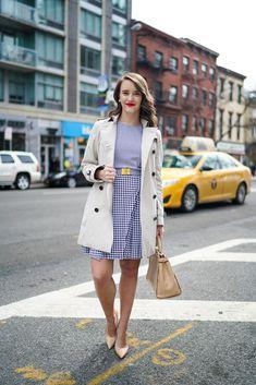 Michael Kors Seersucker Gingham Dress | Covering the Bases | Fashion and Travel Blog New York City