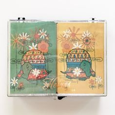 Vintage Playing Cards Heines House Turtle Embroidery Two Decks in Plastic Case | Collectibles, Paper, Playing Cards | eBay!