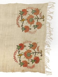 Antique Domestic Ottoman Embroidered Textile, c. 1900. (item #1019187, detailed views)