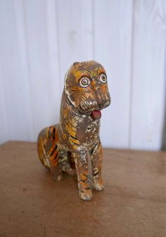 Gorgeous Vintage Wooden Tiger Toy With Faded Paintwork From India Perfect Place, Im Not Perfect, Unusual Presents, 3d Puzzles, Very Lovely, Antique Shops, Old Toys, Tardis, Make Me Smile