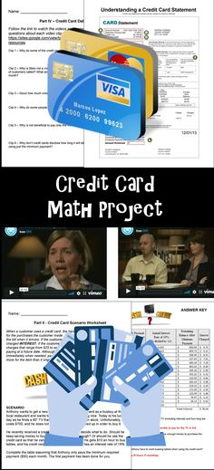 Consumer Math - Credit Card Project: This is a credit card project meant for middle school and high school students. Consumer math can be very confusing particularly for students who have very little Math Worksheets, Math Resources, Math Activities, High School Classroom, Math Classroom, Classroom Ideas, Math Teacher, Teaching Math, Consumer Math