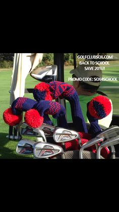 "Golf ClubSox! Custom made in the USA! Show your school spirit with our ""Back to School"" sale! www.golfclubsox.com #golf #golfgift #promo #backtoschool"
