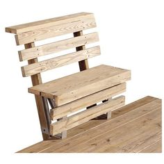 Cool Deck, Diy Deck, Outdoor Chairs, Outdoor Furniture, Outdoor Decor, 2x4 Furniture, Furniture Storage, Pallet Chairs, Pallet Bench