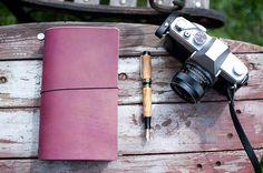 Leather Travelers Notebook Deep Violet (Purple)