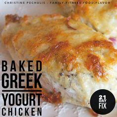 Family. Fitness. Food. Flavor. : Baked Greek Yogurt Chicken