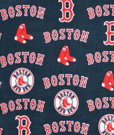 Boston Red Sox MLB Fleece Fabric