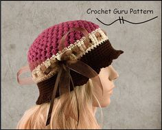 He encontrado este interesante anuncio de Etsy en https://www.etsy.com/es/listing/118070410/crochet-pattern-cloche-hat-pattern