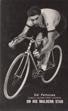 AUSTRALIA MALVERN STAR SID PATTERSON - CYCLING ADVERT CARD