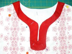 How to add split neck facing to a basic bodice.