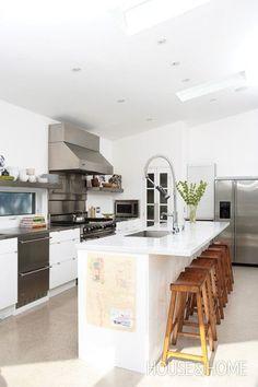 Restaurant-Inspired Style kitchen ideas modern kitchen white clean