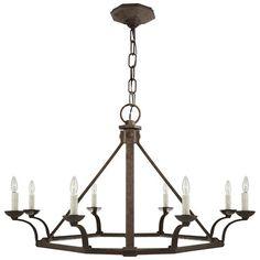 Robertson Single Tier Chandelier in Natural Rust - Ceiling Fixtures - Lighting - Products - Ralph Lauren Home - RalphLaurenHome.com