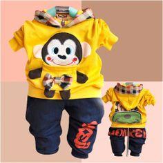 Freeshippin,2013 New Arrive baby clothing Cartoon boys 2pcs suit hoodie+pants autumn boy clothes set Wholesale And Retail BCS037