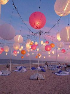 causal beach wedding