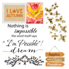 """""""I LOVE AUTUMN"""" by maggie-wilson-i on Polyvore featuring art"""